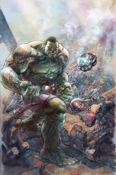 """Indestructible Hulk #1 cover. """"Marvel Now"""" series. I love it."""