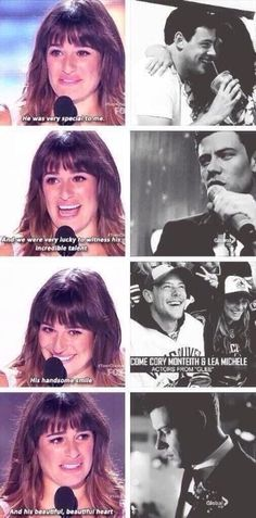 This was probably one of the most amazing speech about Cory that Lea has ever done! (In my opinion)