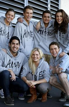 Home and Away cast are supporting National Hoodie Day. Bonnie Sveen, Home And Away Cast, Jessica Grace, 3 Brothers, Leila, Hot Actors, Love Home, Reality Tv, Best Shows Ever