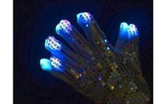 cotillón luminoso lapkurz guantes lentejuelas con leds en sus dedos! $60 la unidad !!