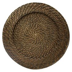 Round Rattan Chargers Set of 4 This would be pretty with my white basket weave plates!