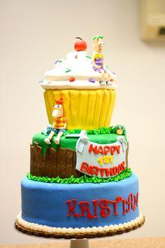 Phineas and Ferb Birthday Cake     GoodieBox Bakeshop Hoboken, NJ