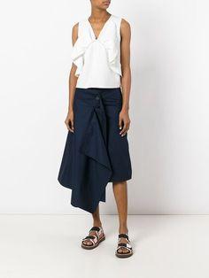 Marni loose wrap skirt – Best Women Fashion images in 2019 Skirt Fashion, Fashion Outfits, Womens Fashion, Denim Wrap Skirt, Clothing Tags, Fashion Images, Blouse Dress, Skirt Pants, Dress Codes