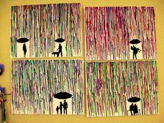 Handmade Encaustic Wax Paintings  4 Piece Love by FembyDesign, $115.00