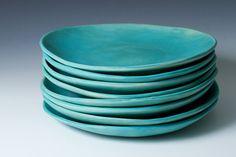 Hey, diesen tollen Etsy-Artikel fand ich bei https://www.etsy.com/de/listing/202716304/9-matte-turkis-steinzeug-platten-keramik