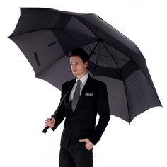 Aliexpress.com : Buy Vented Umbrella Men's Business Double Layers Umbrella Windproof Golf Rain Umbrellas Super Long Handle Auto Open from Reliable umbrella uv suppliers on China Wholesale Supplies  | Alibaba Group