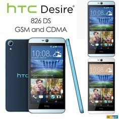 HTC Desire 826 DS GSM + CDMA Full Phone Specifications | 2GB RAM+16GB | White Or Blue Lagoon | 5.5 Inch Touchscreen