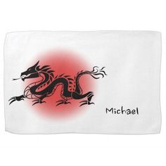 Chinese traditional dragon name kitchen towel