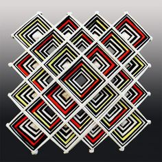 Mandala wall hanging Ojo de Dios yarn woven mandala by PepaKnits on Etsy