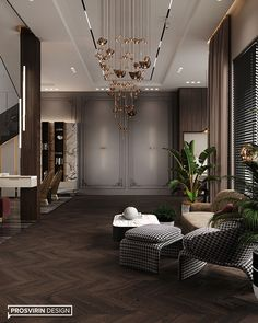 Villa in Dubai on Behance Lobby Interior, Apartment Interior Design, Luxury Homes Interior, Luxury Home Decor, Interior Architecture, Neoclassical Interior, Modern Master Bedroom, Minimalist Room, Dream Home Design