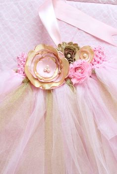 Items similar to Gorgeous Beautiful Light Pink and Gold Satin Shabby Chic Flower Tutu Dress for Baby Girl Months old First Birthday on Etsy First Birthday Dresses, Baby Girl First Birthday, Birthday Tutu, Birthday Ideas, Chiffon Flowers, Satin Flowers, Baby Girl Dresses, Flower Girl Dresses, Tutu Dresses