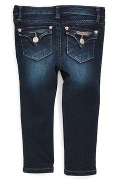 Hudson Kids 'Collin' Flap Pocket Skinny Jeans (Freezer Blue) (Baby Girls) available at #Nordstrom