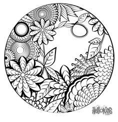Pin by DeAnna Lea on Color Mandalas Pinterest Mandala coloring