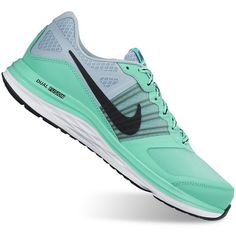 Nike Dual Fusion X Women's Running Shoes ($50) ❤ liked on Polyvore featuring shoes, athletic shoes, mint gray, synthetic shoes, nike, running shoes, gray shoes and nike footwear