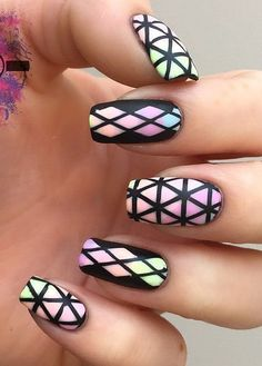 55 Stripes Nail Art Ideas | Art and Design