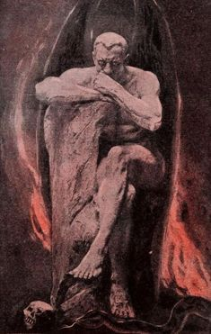 Illustration from 'Satan, his Origin, Work, and Destiny' by Carlyle Boynton Haynes, Rennaissance Art, Satanic Art, Scary Art, Occult Art, Biblical Art, Pre Raphaelite, Dark Photography, Angels And Demons, Gothic Art