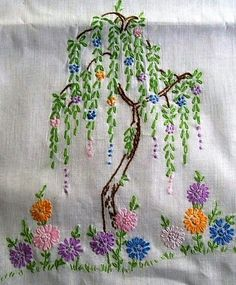 Embroidery Stitchery BEAUTIFUL Willow tree from gardeningsite.com I couldn't find it on this site. But It Is Beautiful!! jwt