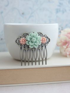Hey, I found this really awesome Etsy listing at https://www.etsy.com/listing/123099908/soft-light-mint-green-rose-pink-daisy