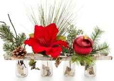 Rustic Christmas Flower Arrangement