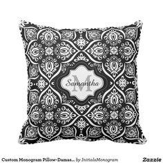 Trendy Green And Aqua Honeycomb Pattern Throw Pillow