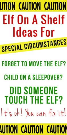 Elf On The Shelf Ideas For Special Circumstances! #elf