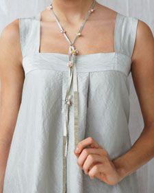 Ribbon Lariat Necklace
