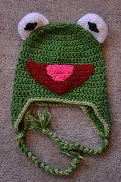 Kermit the Frog Earflap Hat by ElijahsCradleDesigns on Etsy, $20.00