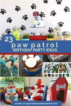 23 Paw patrol party ideas from Spaceships and Laser Beams. Best Paw Patrol/Puppy birthday party ideas for kids. Birthday Party Games, 4th Birthday Parties, 3rd Birthday, Birthday Ideas, Puppy Birthday, Birthday Decorations, Paw Patrol Party, Paw Patrol Birthday, Paw Patrol Games