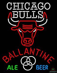 Ballantine Chicago Bulls Neon Sign NBA Teams Neon Light