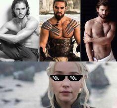 Game of Thrones Memes . And she has Jorah as backup.BALLER Game of Thrones Memes . King Jon Snow, Game Of Thrones Instagram, Game Of Thrones Meme, Got Memes, Funny Memes, Memes Humor, Hilarious, My Champion, Khal Drogo