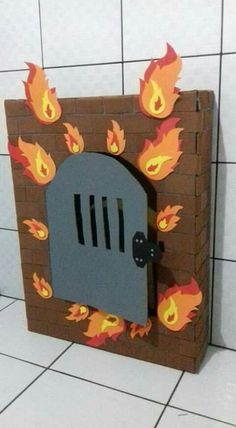 Craft idea for Shadrach, Meshach, and Abednego in the Fiery Furnace Bible Story Crafts, Bible School Crafts, Bible Crafts For Kids, Preschool Bible, Sunday School Crafts, Bible Games, Bible Activities, Object Lessons, Bible Lessons