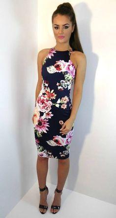a47077c83dc8 Oasap Floral Dresses Archives. Floral Bodycon DressesNavy Bodycon  DressBodycon ...