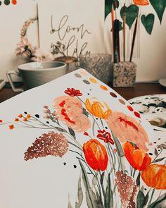 """Tanja von Die Handletterei's Instagram post: """"#gutenmorgen aus dem #kreativeck 😌✨ . . . #watercolorillustration #watercolorflowers #watercolorflorals #watercolorlove #watercoloraddict…"""""""