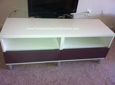 ikea besta tv stand unit assembled in Baltimore MD by Furniture assembly experts LLC