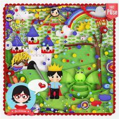 Kit - O principe e o dragão by Fa Maura [FaMaura_KitOPrincipe_e_o_Dragao] - R$29.88 : FaMaura.com - scrapshop