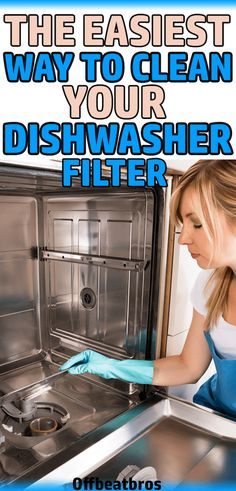 How to clean your dishwasher filter? – your complete cleaning guide to clean the filter of your dishwasher. How to clean your dishwasher filter? – your complete cleaning guide to clean the filter of your dishwasher. Window Cleaning Tips, Household Cleaning Tips, Deep Cleaning Tips, House Cleaning Tips, Cleaning Solutions, Spring Cleaning, Cleaning Hacks, Bedroom Cleaning, Cleaning Quotes