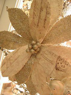 glitter and postcard pointsetta inspiration via ~ Uniquely ella: Festive flair