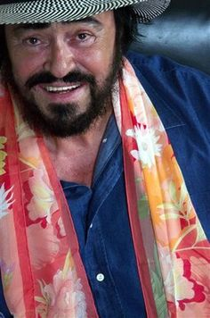 Pictured here the energy of Pavarotti: sunshine on a cold grey day....
