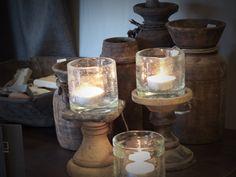 Stoere landelijke kistjes als decoratie voor op een salontafel mooi te combineren met stenen - Zink oude keramiek ...