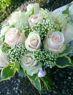 Thalea rose and wedding rose bridal hand tied bouquet. www.enchantedflorals.co.uk