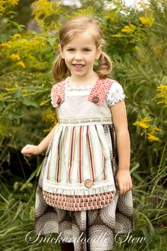 Charlotte Apron Dress, Parson Gray Style- Snickerdoodle Stew Little Dresses, Flower Girl Dresses, Free Spirit Fabrics, Apron Dress, Grey Fashion, Stew, Charlotte, Cute Outfits, Gray
