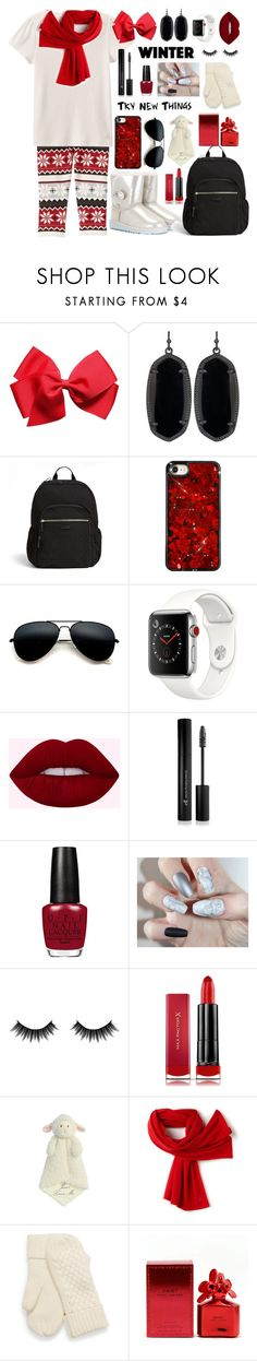 """Untitled #276"" by look-at-us ❤ liked on Polyvore featuring Gymboree, Kendra Scott, Vera Bradley, Apple, Forever 21, Morphe, Max Factor, Lacoste and Marc Jacobs"