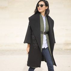 Nicole Warne from @GaryPepperGirl in a PreFall 2015 embroidered coat ELIE SAAB