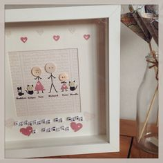 Together We Make A Family Stick Men People Personalised With Your Names Pets