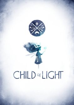 logo for Child of Light. Love the watercolor quality in it.