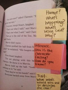 Mark a text with predictable challenges for conference/small group work