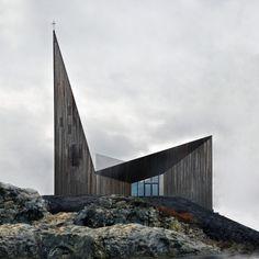 Общинная церковь в Кнарвике Reiulf Ramstad Arkitekter © Hundven-Clements Photography