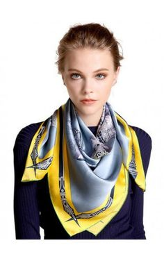 Silk Neck Scarf, Neck Scarves, Tie Scarves, Classic Style Women, How To Wear Scarves, Scarf Styles, Silk Satin, Womens Scarves, Fashion Outfits