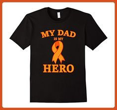 Mens Leukemia Awareness Shirts My Dad is My Hero Support Tee 2XL Black - Relatives and family shirts (*Partner-Link)
