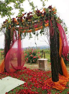 Beautiful for a Fall wedding.